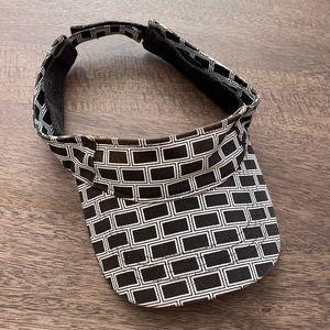 Marc Jacobs black white brick pattern Velcro visor